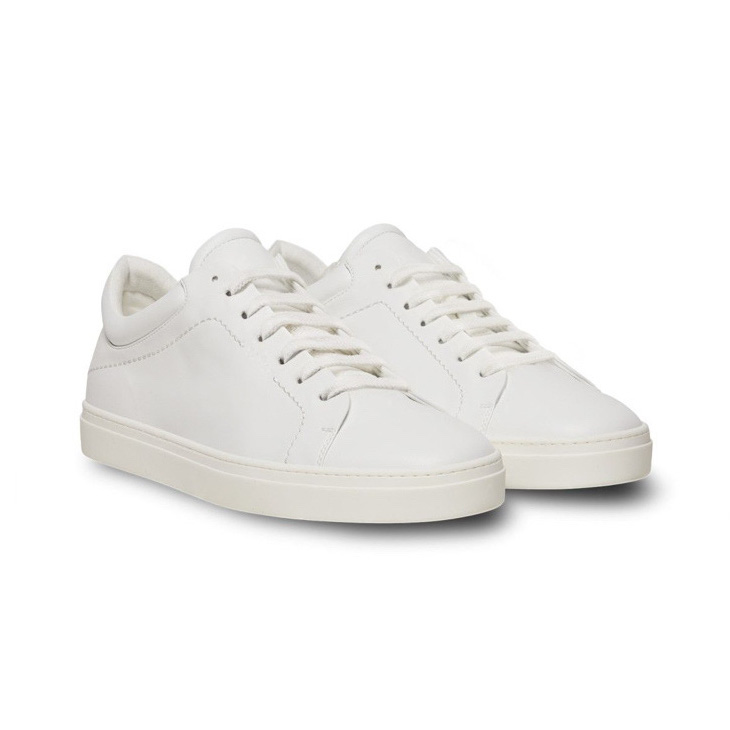 Yatay White Vegan Leather Neven Low-Top Sneaker